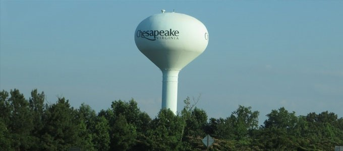 Chesapeake Virginia water tower