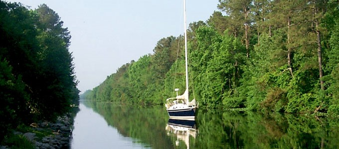 Boat in Great Dismal Swamp Virginia