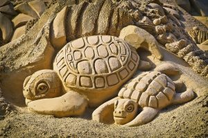 sand sculpting in Virginia Beach